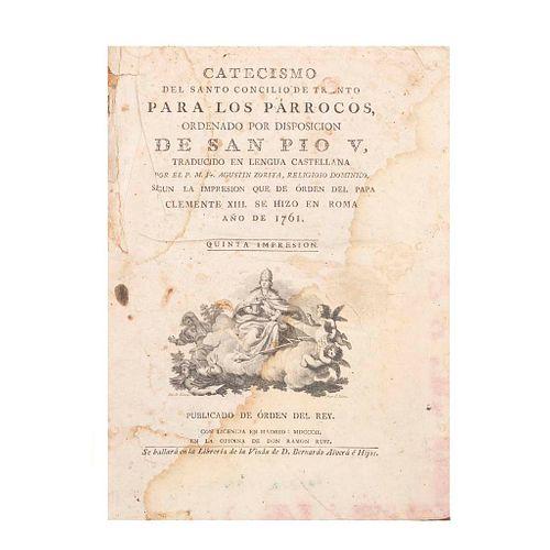 Zorita, Agustin. Catecismo del Santo Concilio de Trento para los Párrocos, ordenado por disposición de San Pío V. Madrid: 1802.