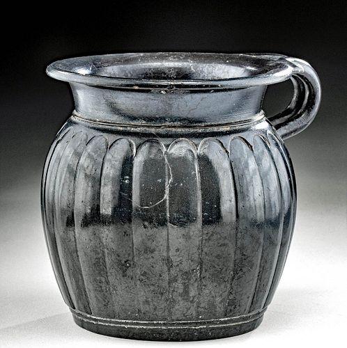 Lovely Campanian Black Glazed Vessel, ex Royal Athena