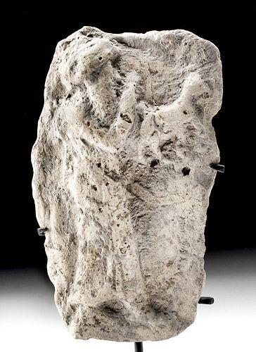 Mesopotamian Terracotta Votive Plaque - Man w/ Animal