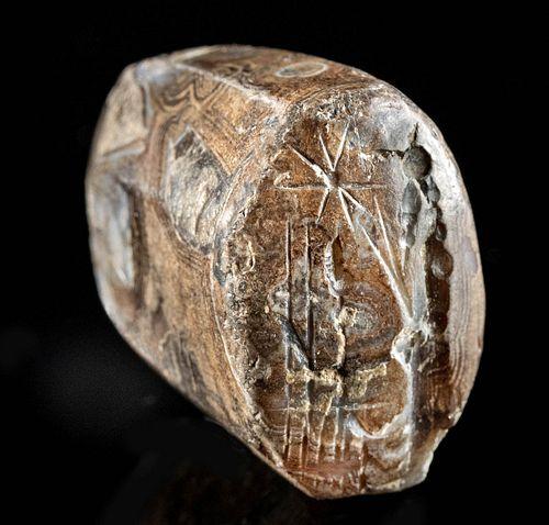Neo-Babylonian Stone Stamp Seal Bead