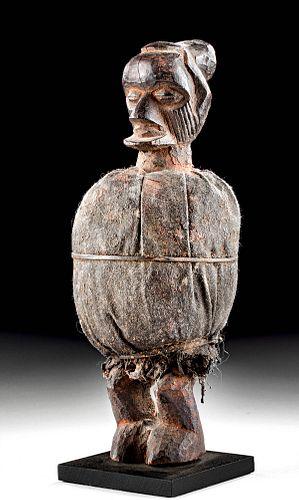 Early 20th C. African Teke Wood & Fabric Matomba Figure