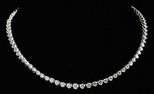 11.75tcw. Diamond Riviere Necklace