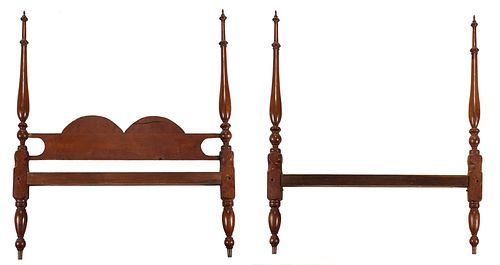 American Federal Cherry Four Post Bedstead