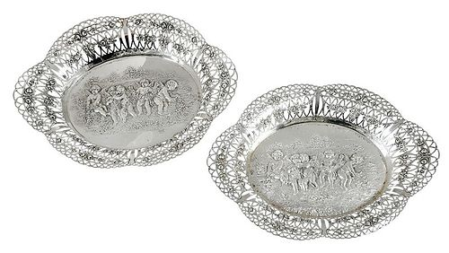 Pair of German Silver Serving Dishes