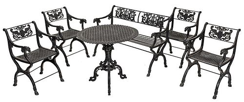 Vintage Six Piece New Orleans Style Garden Suite