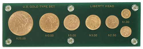 United States Type Set of Gold Coins