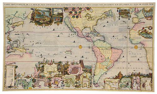 Chatelain - Carte Tres Curieuse De La Mer, 1719