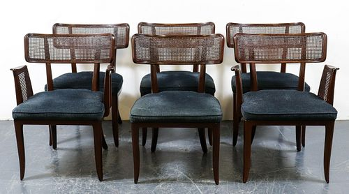 Edward Wormley for Dunbar Caned Dining Chairs, 6
