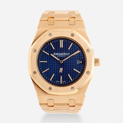 Audemars Piguet, 'Royal Oak Jumbo Ultra thin' pink gold wristwatch, Ref. 152020R