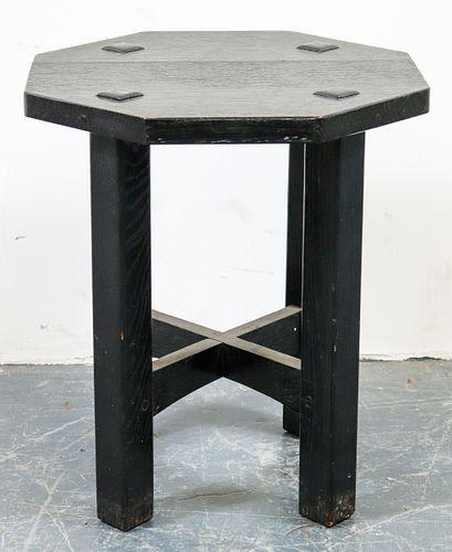 Stickley Craftsman Ebonized Side Table / Stool