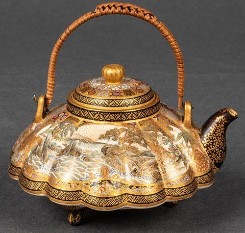 Japanese Satsuma Porcelain Miniature Teapot
