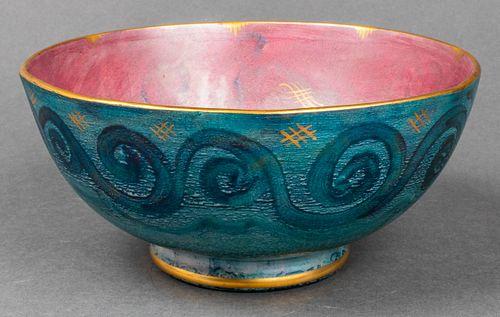 Gustavsberg Sweden Glazed Art Pottery Bowl