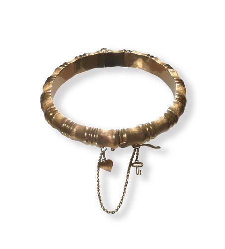 18K Gold Bamboo Bracelet