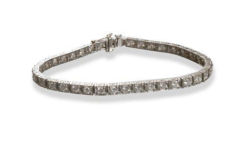 Diamond and Platinum Tennis Bracelet