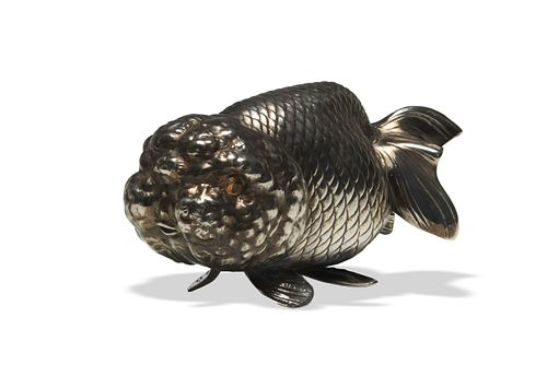Japanese Sterling Silver Goldfish