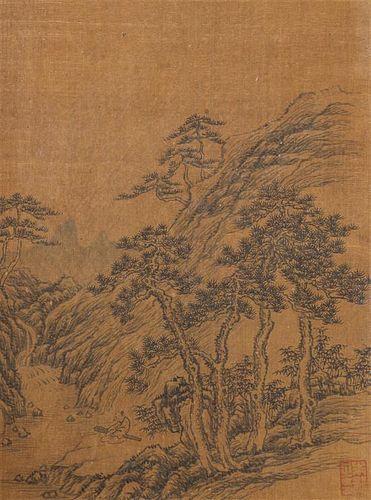 After Wu Li, (Chinese, 1632-1718), depicting mountainous landscape scenes.