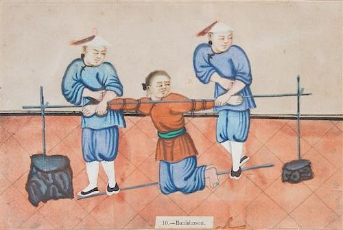 * A Set of Eight Chinese Pith Paintings 19TH CENTURY Height of average image 5 1/2 x width 8 1/2 inches.