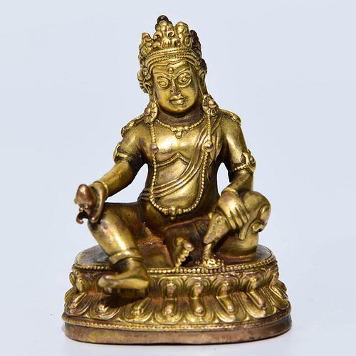 A Bronze God of Wealth Statue