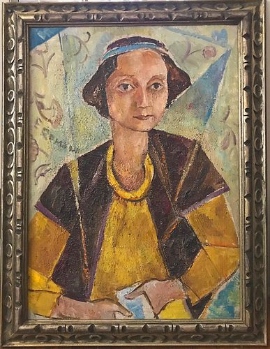 Portrait of Lady, Oil on Canvas by Emmanuel Romano