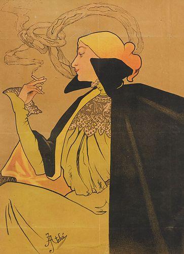 Jane Atche Art Nouveau Cigarettes Poster JOB