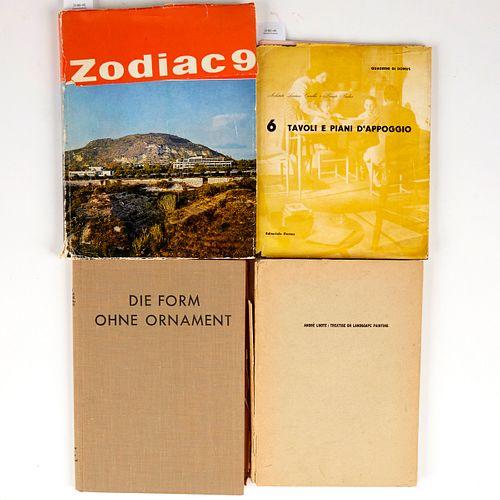 Grp: 4 20th c. Decorative Arts Books