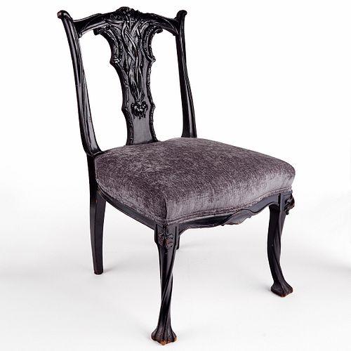 Ebonized Art Nouveau Chair