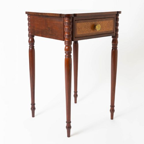 American Sheraton Mahogany One Drawer Stand, c.1810, courtesy of The Federalist Antiques