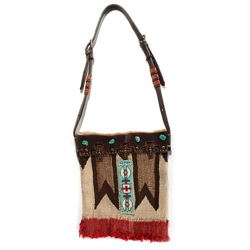 Southwestern Woven and Beaded Bag