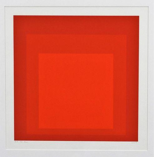 Josef Albers Ek Id Geometric Abstract Silkscreen