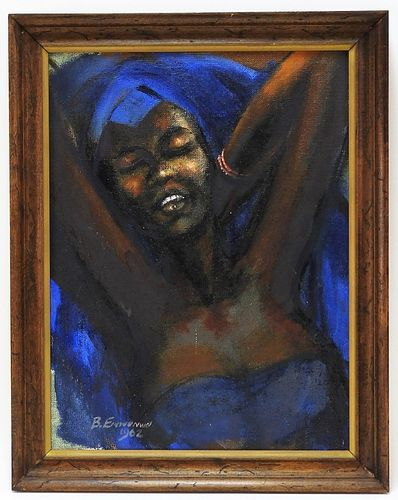 Ben Enwonwu Modernist Painting of Afi Ekong