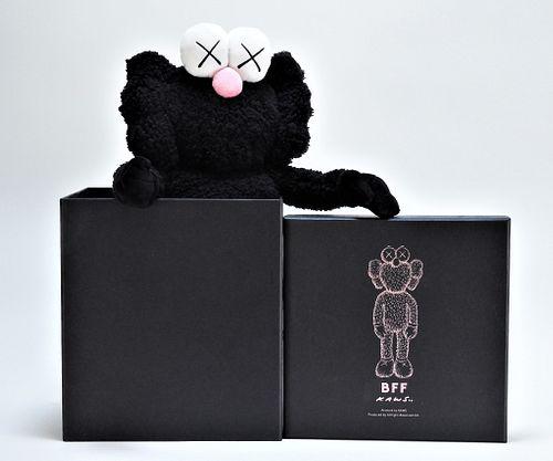 KAWS BFF Companion Black Polyester Plush Doll