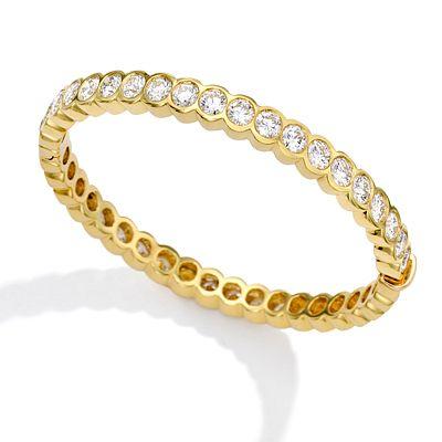 Mish Elizabeth Hinged Bangle Bracelet, 18k Gold & Diamond
