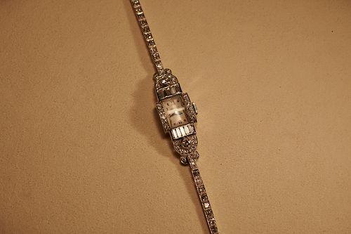 Lady's diamond wristwatch