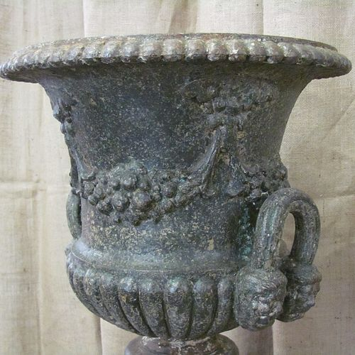 English Cast Iron Garden Urn - Courtesy Finnegan Gallery