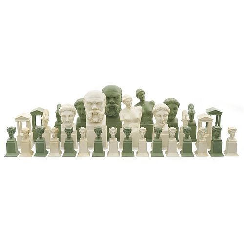 Classical Revival Parian Chess Set c1880 Attributed Austrian, courtesy of Jeffrey Lawrence