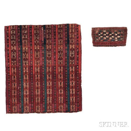 Yomud Saddle Rug and a Yomud Kap