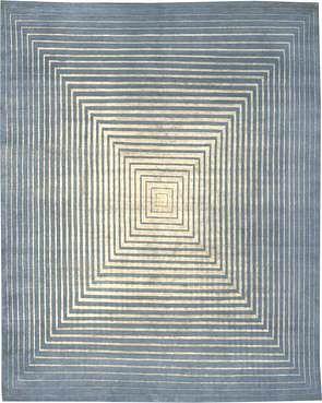 Infinity Powder Blue Silk and Wool 8'X10' Rug