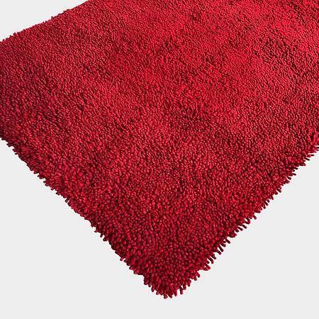 Red Felt/Shag Rug