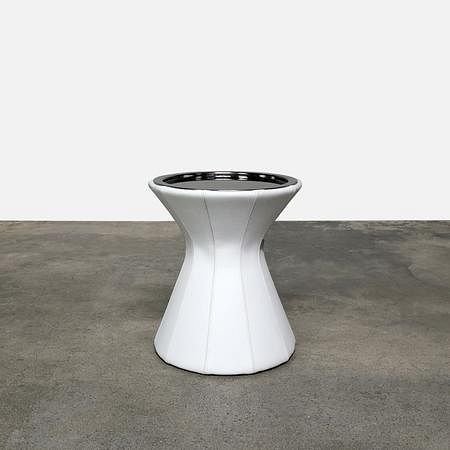 Buddy Leather Side Table