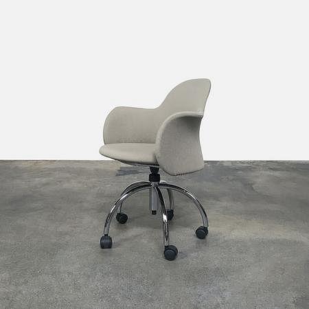 Flower Swivel Chair with Castors