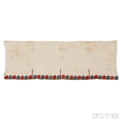 Silk Greek Island Embroidered Valance and Bed Curtain