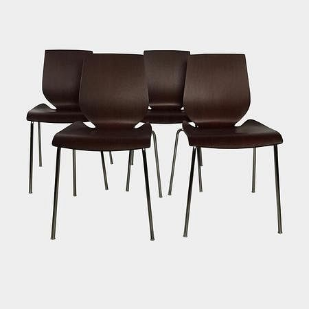 Wood Dining Chairs (Set of 4)