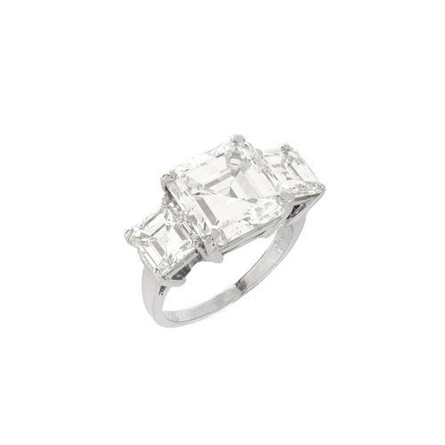 7.51ct Diamond and Platinum Ring