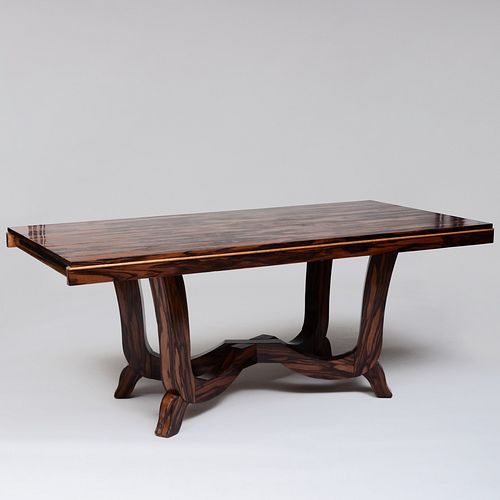 Large Modern French Calamander Dining Table