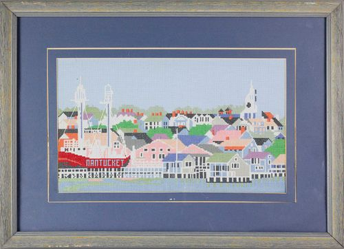 Needlepoint View of the Town of Nantucket