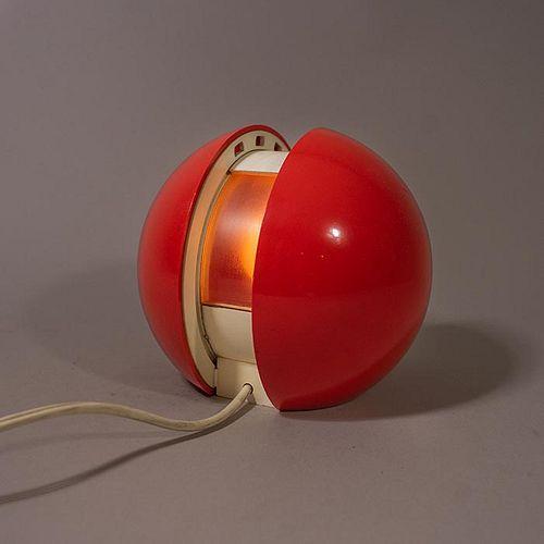 Gianni Colombo para Arredoluce. Lámpara de escritorio GEA roja / Red GEA desk lamp