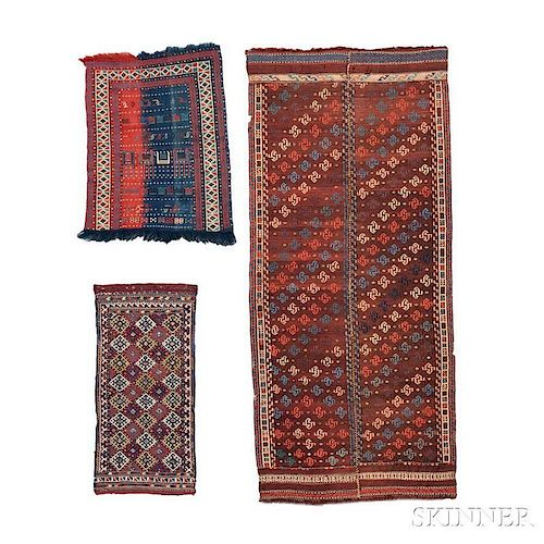Two Shahsavan Flatweaves and a Kurdish Bagface