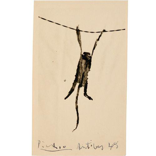 Pablo Picasso, etched photo mono print, 1945