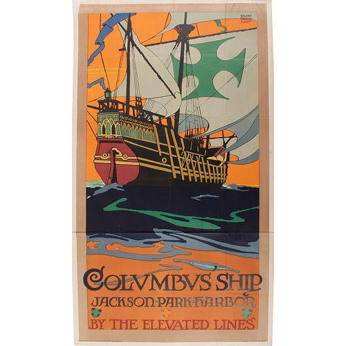 Willard Frederic Elmes (American, 1900-1956), Columbus Ship Jackson Park Harbor