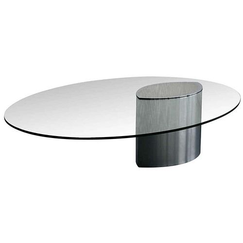 Stainless Steel Lunario Table by Cini Boeri for Knoll